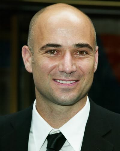 Andre Agassi, top 10 calvos famosos y sexys, el blog del single