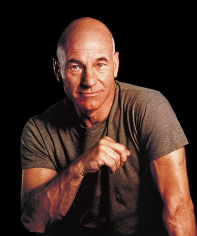 Patrick Stewart, top 10 calvos famosos, el blog del single