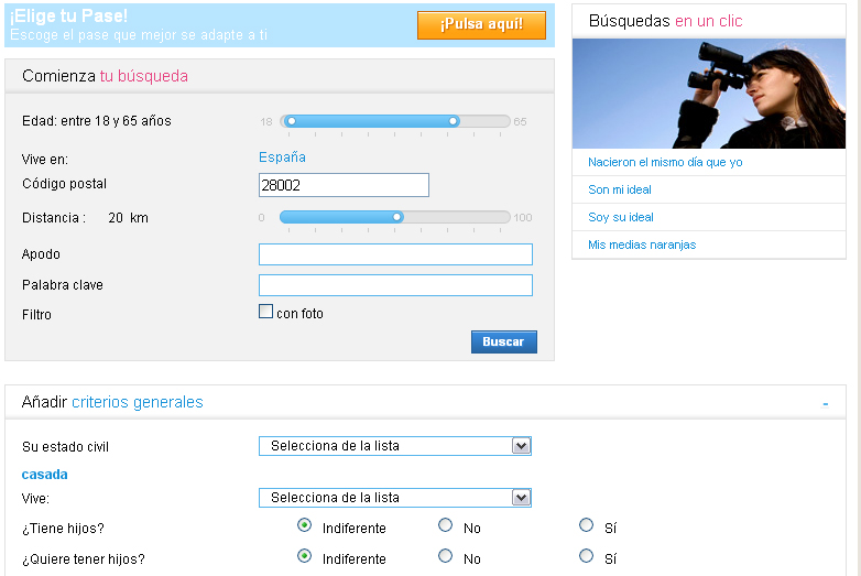 Meetic para encontrar casadas infieles