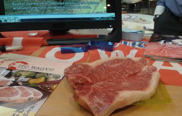 Filete Ternera Wagyu, Stand Japón, Salón de Gourmets, Single Life