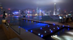 Piscinas impresionantes Hotel Intercontinental Hong Kong