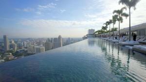 Piscinas impresionantes Marina Bay Sands Singapur