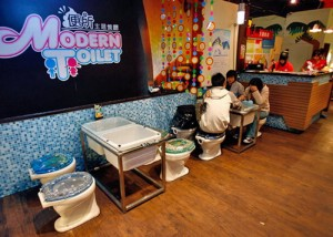 Restaurantes  originales Modern Toilet blog del single