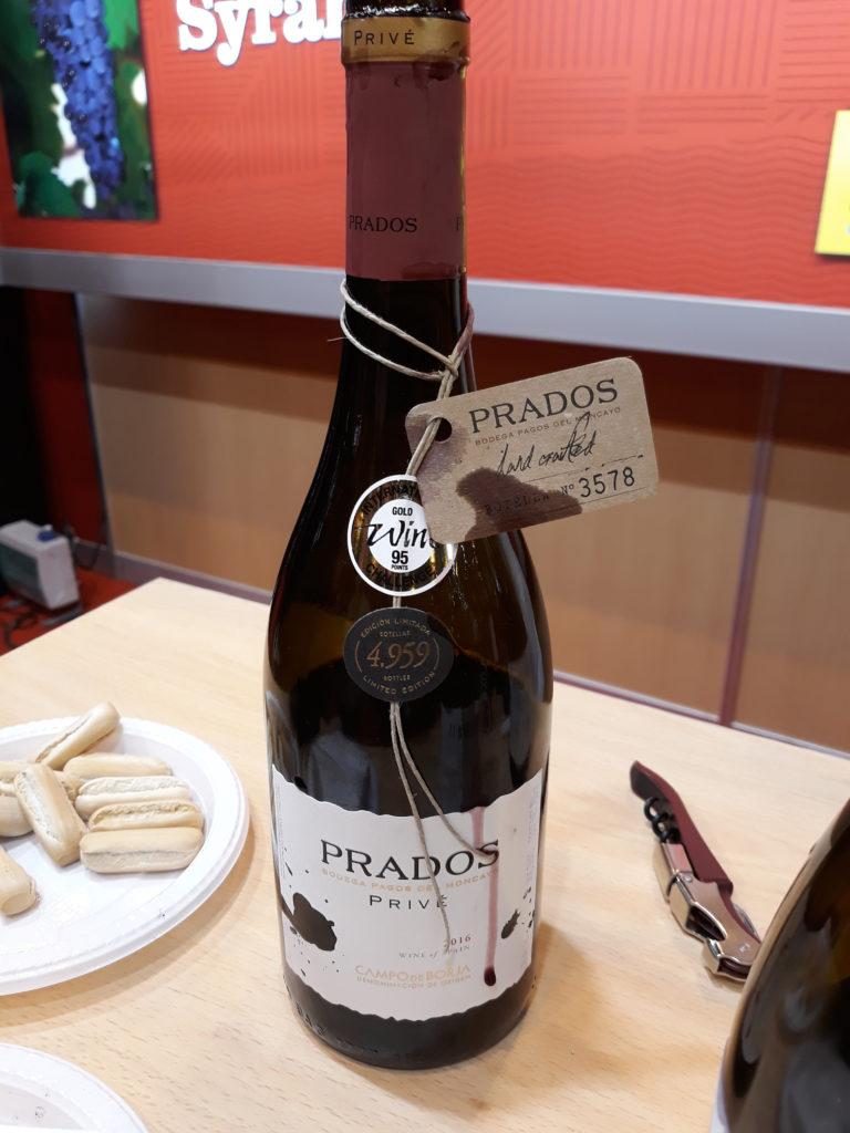 Túnel del vino Prados Prive excelente syrah, 33 Salón del Gourmet 2019 blog del soltero