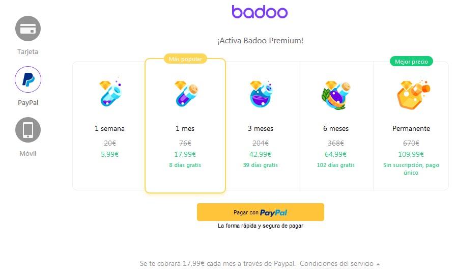 Badoo Premium cuidado